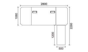 SW- 7028 班台/ Manager Desk